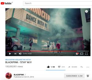 Blackpink-Stay-100-million-views-youtube