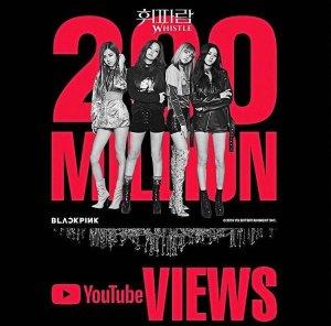 Blackpink Whistle 200M Views
