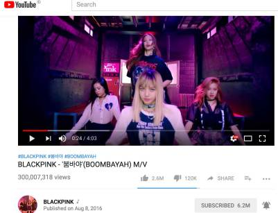 Boombayah-300-million-Youtube-views