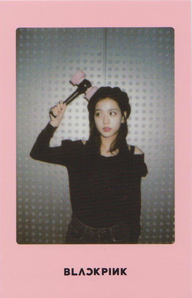 Blackpink Jisoo Light Stick Photo Cards pink version
