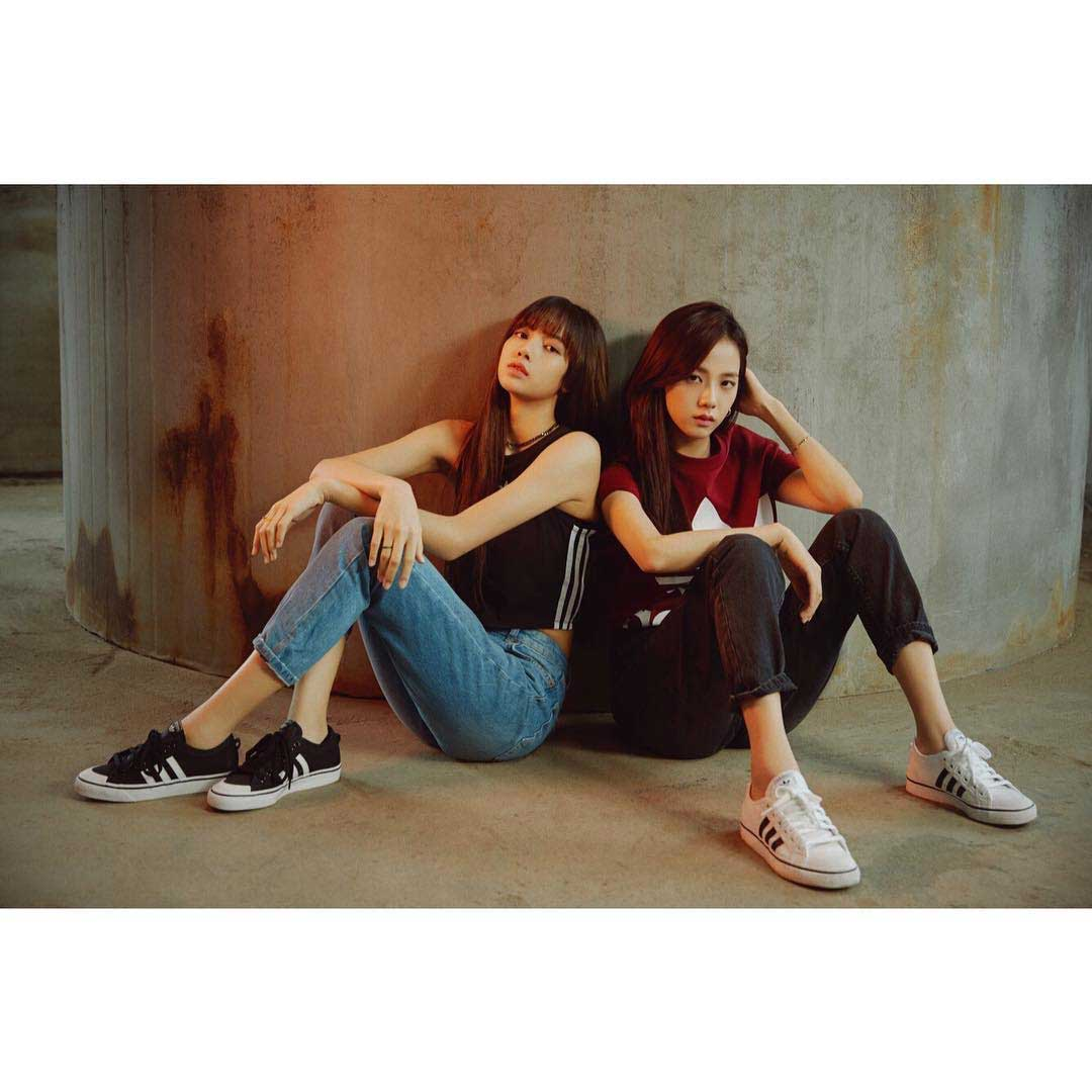 Blackpink Official Instagram Posted Lisa And Jisoo Photo For Adidas