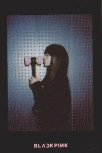 Blackpink Lisa Light Stick Photo Cards black version