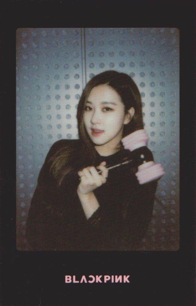 Blackpink Rose Light Stick Photo Cards black version