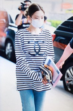 Blackpink Jennie Airport Fashion at Incheon airport 9 June 2018 from Chanel Event France