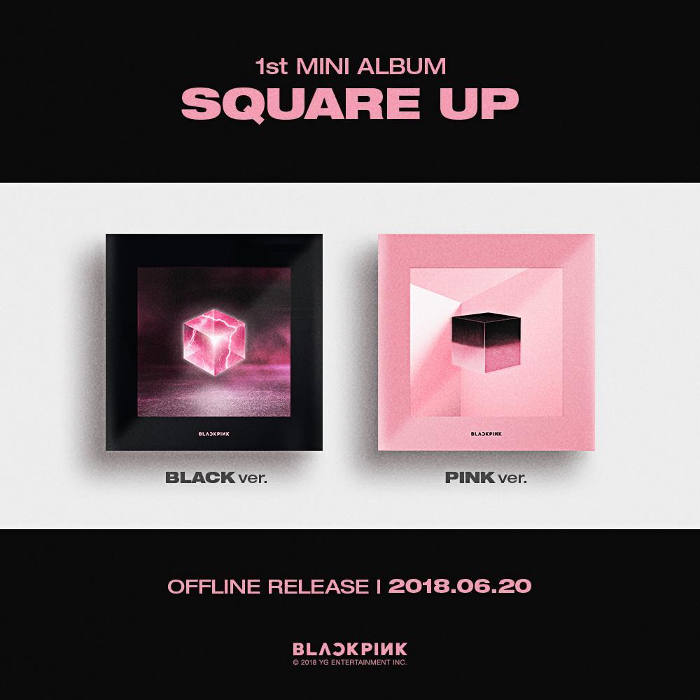K-POP PINK VER. + BLACK VER. SQUARE UP CD SET W//TRACKING NO BLACKPINK