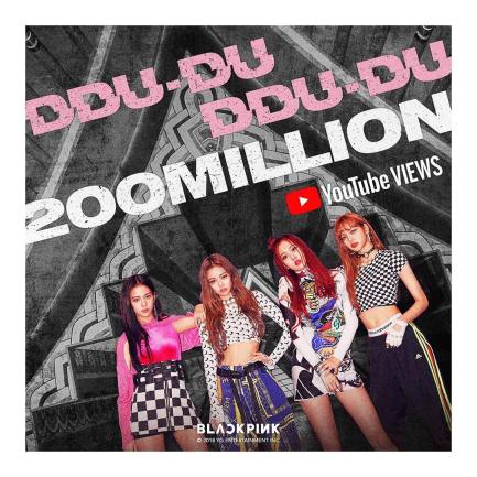 BLACKPINK DDU DU DDU DU 200 MILLION YOUTUBE VIEWS