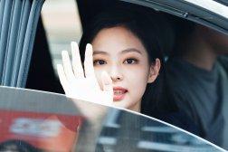 BLACKPINK Jennie leaving Inkigayo 15 July 2018 Car photos