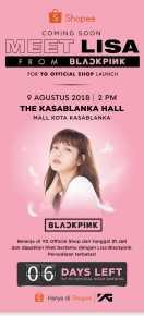 BLACKPINK Lisa meet and greet YG Shop Indonesia