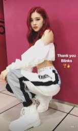 BLACKPINK Rose Instagram story Roses Are Rosie white outfit
