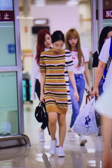 BLACKPINK UPDATE Jennie Airport Photo 20 July 2018 Back From Japan 4