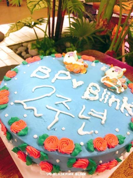 BLACKPINK 2nd anniversary cake