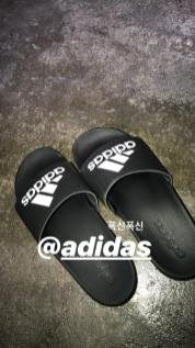 BLACKPINK Jennie Instagram Story 21 August 2018 adidas slipper