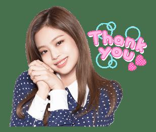BLACKPINK Jennie LINE Sticker 2018 Photo 2
