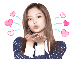 BLACKPINK Jennie LINE Sticker 2018 Photo 3