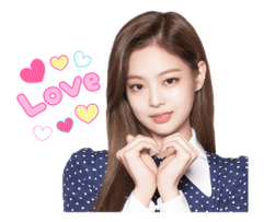 BLACKPINK Jennie LINE Sticker 2018 Photo 4