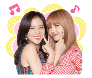 BLACKPINK Jisoo Lisa Lisoo Official LINE Sticker 2018 photo