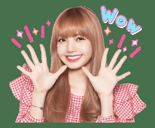 BLACKPINK Lisa LINE Sticker 2018 Photo 6
