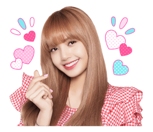 BLACKPINK Lisa LINE Sticker 2018 Photo