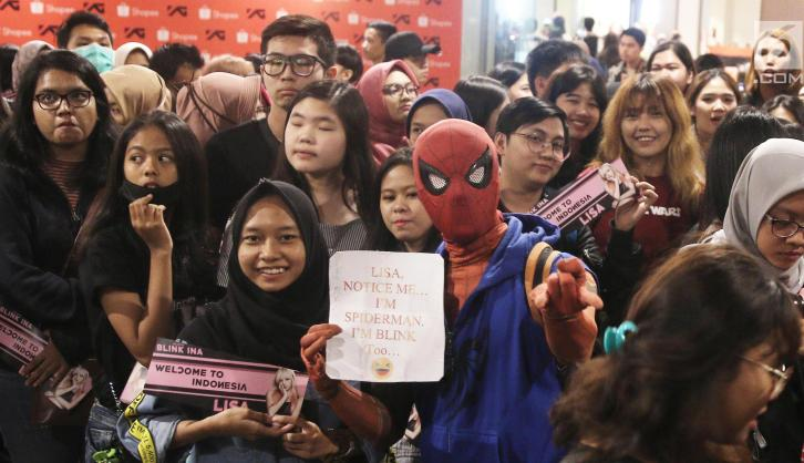 BLACKPINK Lisa Meet and Greet Indonesia fans