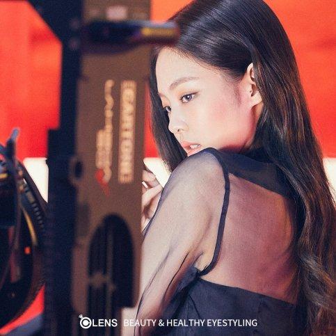 BLACKPINK OLENS Behind the scenes photos Jennie