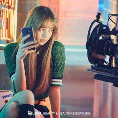 BLACKPINK OLENS Behind the scenes photos Lisa