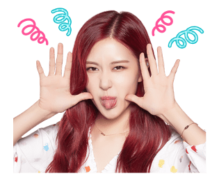 BLACKPINK Rose LINE Sticker 2018 Photo 8
