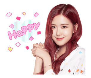 BLACKPINK Rose LINE Sticker 2018 Photo
