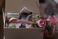 BLACKPINK Rose comeback support rose fan union lunchbox flower candies 4
