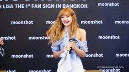 Day 1 BLACKPINK Lisa moonshot fansign event Bangkok Thailand 30
