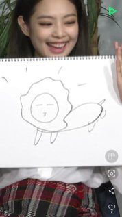 blackpink line live jennie draw lion