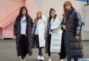 1-BLACKPINK ADIDAS Winter Outfit Long Padded Jackets