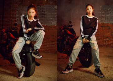 1. BLACKPINK Jennie Adidas Originals Falcon