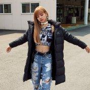 BLACKPINK Lisa Adidas Long Padded Coats