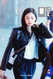 103-BLACKPINK Jennie Airport Photos Incheon to Paris Fashion Week