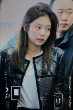 107-BLACKPINK Jennie Airport Photos Incheon to Paris Fashion Week