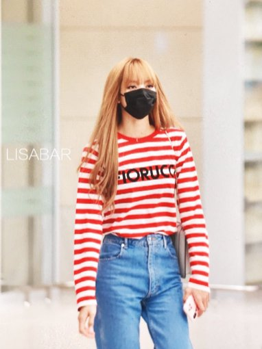 11-BLACKPINK Lisa Airport Photo Incheon Seoul From New York