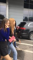 12-BLACKPINK Jisoo Rose Lisa JFK Airport Photo New York City