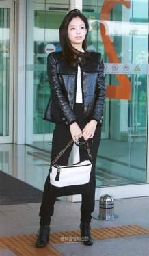 15-BLACKPINK Jennie Airport Photos Incheon to France Paris Fashion Week