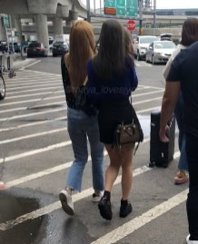 17-BLACKPINK Jisoo Rose Lisa JFK Airport Photo New York City