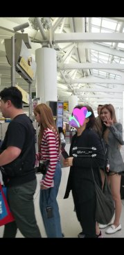 2-BLACKPINK Jisoo Rose Lisa JFK Airport NYC Back To Seoul 12 September 2018