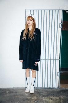 22-BLACKPINK Lisa X-girl Japan Nonagon Collaboration
