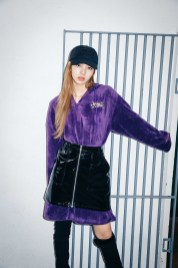 28-BLACKPINK Lisa X-girl Japan Nonagon Collaboration