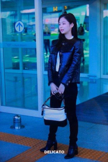 34-BLACKPINK Jennie Airport Photos Incheon to Paris Fashion Week