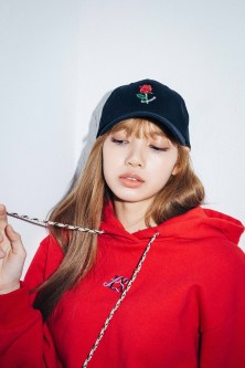 42-BLACKPINK Lisa X-girl Japan Nonagon Collaboration