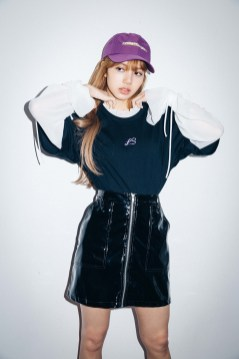 45-BLACKPINK Lisa X-girl Japan Nonagon Collaboration