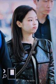 74-BLACKPINK Jennie Airport Photos Incheon to Paris Fashion Week