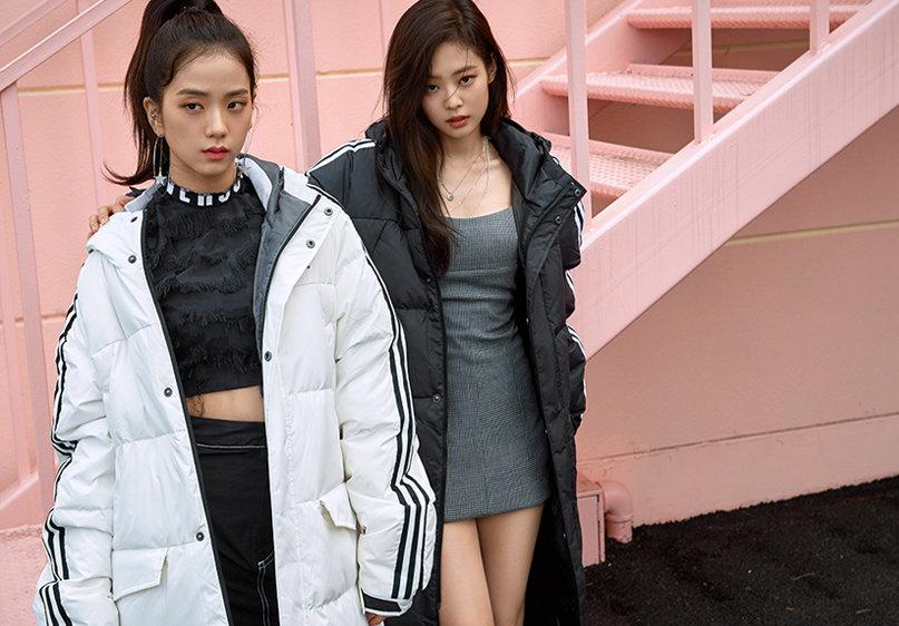 BLACKPINK Jennie Jisoo Jensoo Adidas Long Padded Coats
