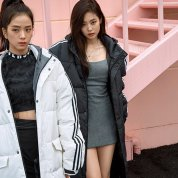 BLACKPINK Jennie Jisoo Jensoo Adidas Long Padded Coats