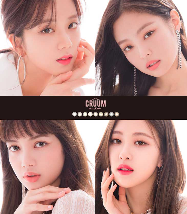 BLACKPINK Looks Angelic for CRUUM Japan Contact Lens Commercials