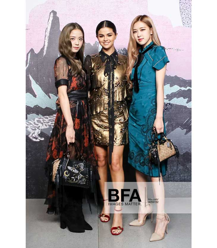 BLACKPINK Jisoo Rose Selena Gomez COACH New York Fashion Week 2018